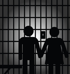 couple in prision vector image