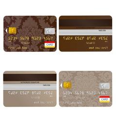 Credit card set vector