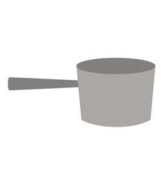 Dipper flat on white vector