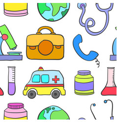 Doodle of medical style design vector