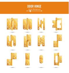 door hinge set classic and industrial vector image