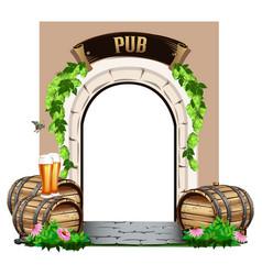Door to the pub vector