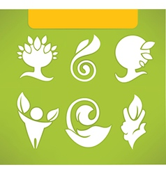Eco symbols and icons vector