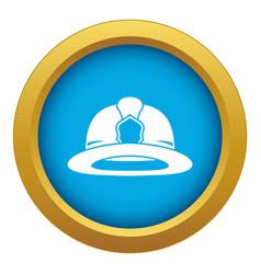 fireman helmet icon blue isolated vector image