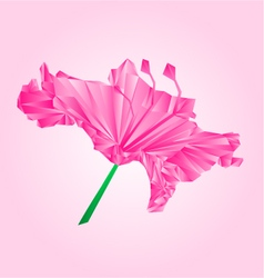 Flower simple rhododendron pink polygons vector