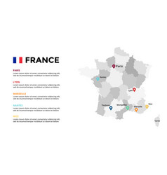france map infographic template slide vector image