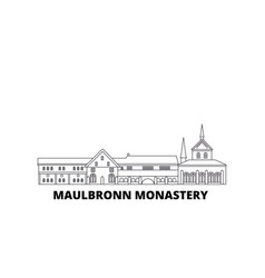 Germany maulbronn monastery line travel skyline vector