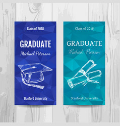 Graduation party invitation card graduation party vector