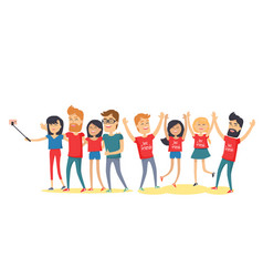 Happy best friends have fun together flat vector
