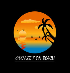 holiday on beach vector image