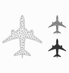 Jet plane mesh carcass model and triangle vector