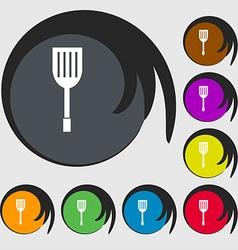 Kitchen appliances icon sign Symbols on eight vector image