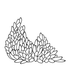 leaf pattern in black and white vector image