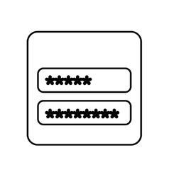 Login and password icon vector