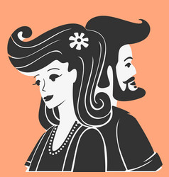 Man and woman together vector