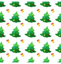 modern flat new year seamless pattern vector image