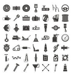 Motor car part icon set simple style vector