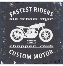 Motorcycle vintage stamp vector image