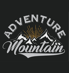 mountain t shirt poster winter graphic design vector image