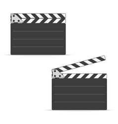 movie clapper board set vector image