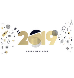 new year 2019 business greeting card vector image