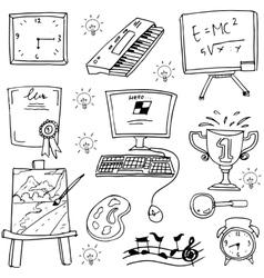 Object school element doodles vector