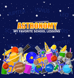 On the astronomy school theme vector