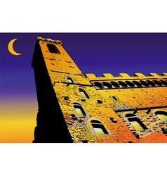 Palazzo Vecchio in Florence Italy vector image