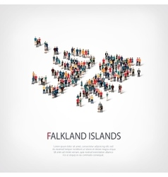 people map country Falkland Islands vector image