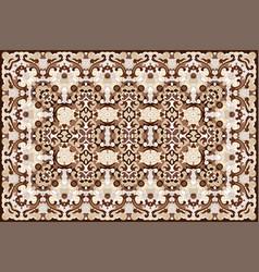 Persian colored carpet vector