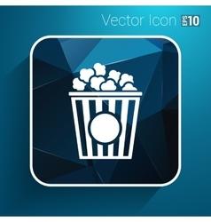 Popcorn design on blue backgroundclean vector image
