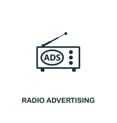 radio advertising icon premium style design from vector image