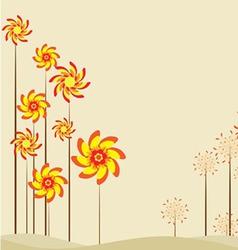 Retro spring design vector image