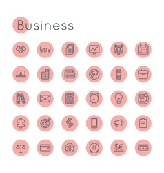 Round Business Icons vector image
