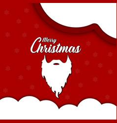 santa claus beard vector image