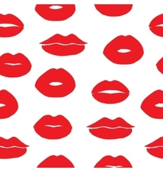 Seamless background with female lips vector image