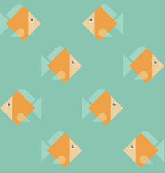 seamless eight orange fishes pattern texture vector image