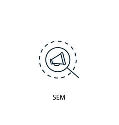 Sem concept line icon simple element vector