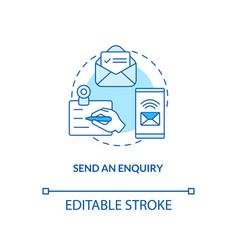 send an enquiry concept icon vector image