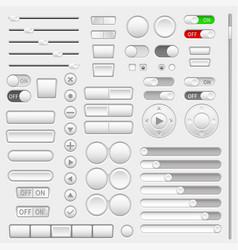 Set of interface navigation buttons sliders vector