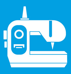 Sewing machine icon white vector