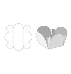 Snack folding bowl die cut template vector