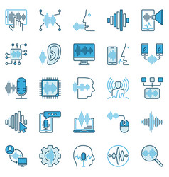 speech recognition creative icons vector image