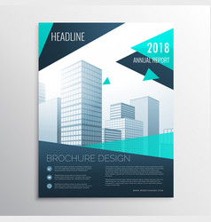 Stylish blue business brochure design with vector