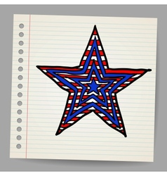 The 4th July Independence day star vector image