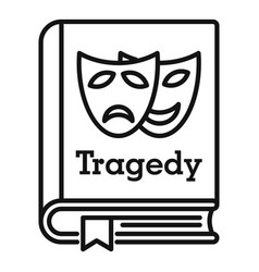 tragedy literary genre book icon outline style vector image
