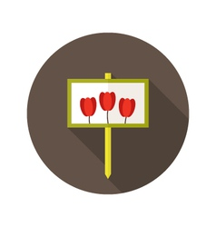 Tulip flowers sign flat icon vector