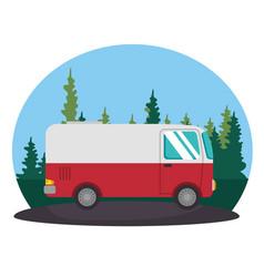 Van vehicle transport icon vector