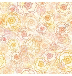 Warm flowers seamless pattern background vector image