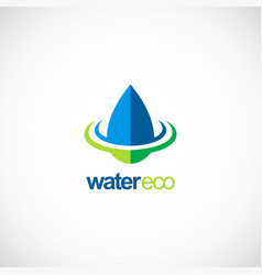 Water drop ecology bio logo vector